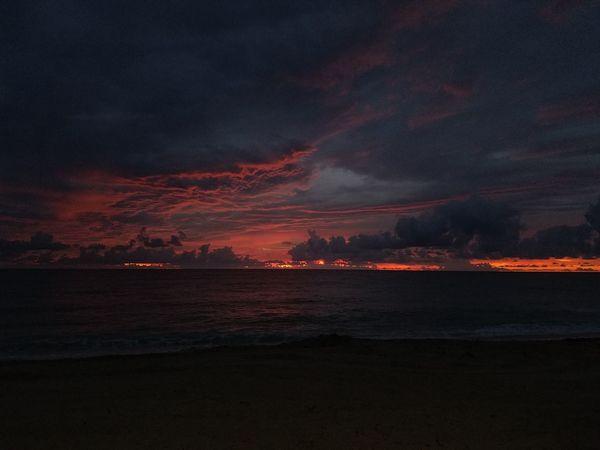 Good morning Miami! Beach Horizon Over Water Sky Sunrise