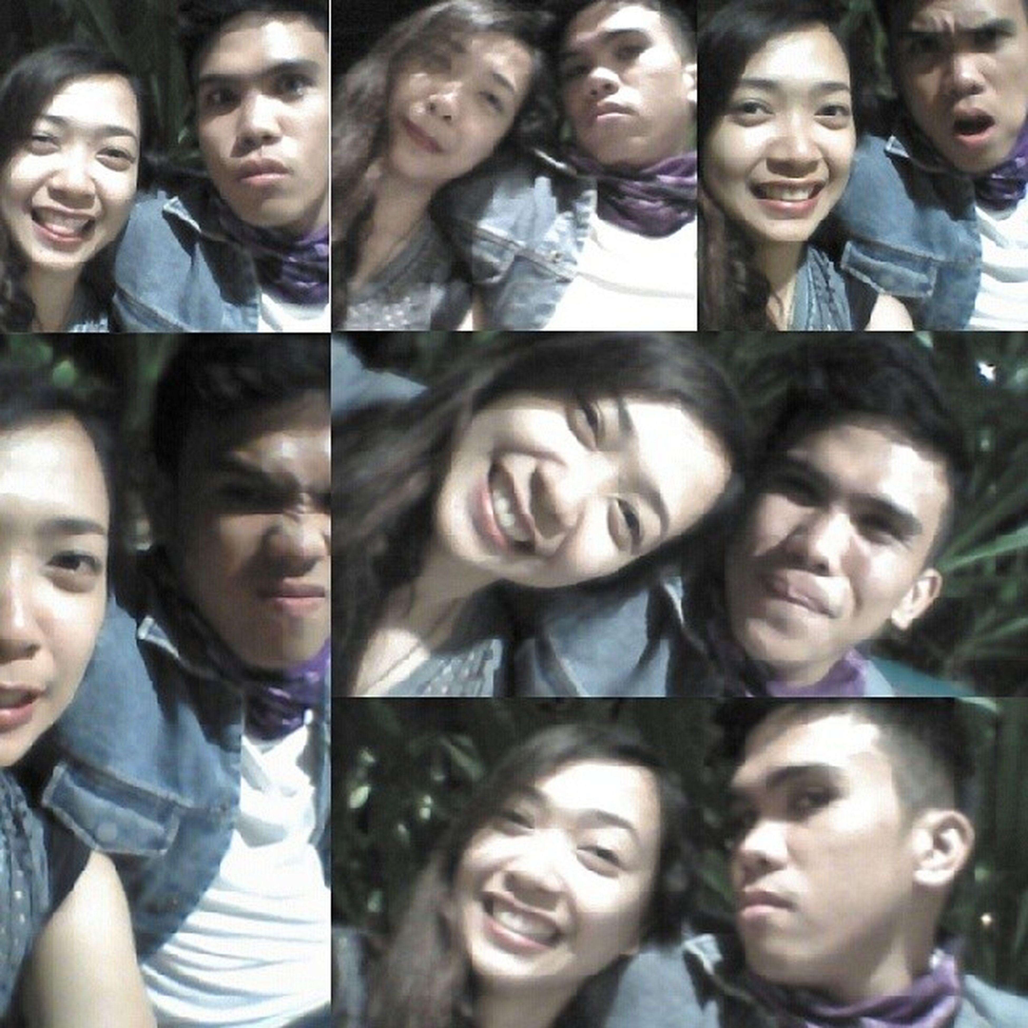 We sure are cute for two ugly people. Anyoneelsebutyou Owlandmonkey Angpangitnamin