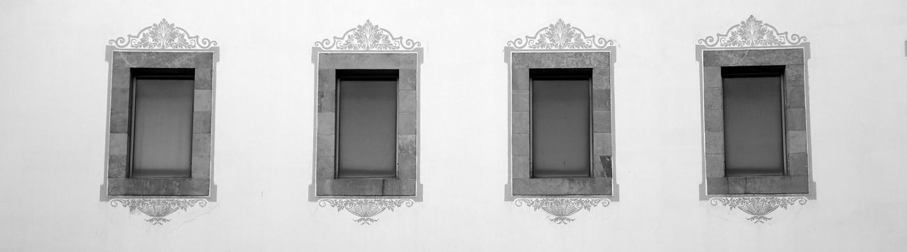 Architecture Beautiful Black And White No People Plain Symmetry Wide Windows