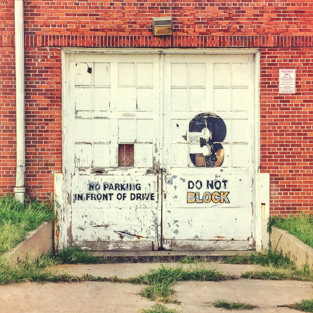 Door No 3. Door Noparking Brick Warehouse Factory