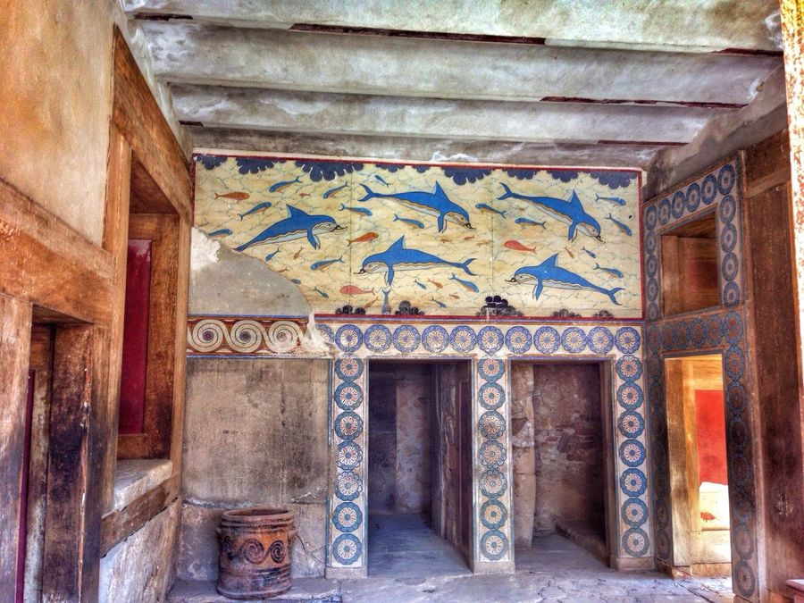 The Palace of Knossos. Crete. / Nature Landscape Traveling Photo