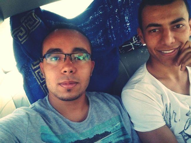 Beach Day Libya Tripoli Selfie Popular Photo in the way to the beach B-) me with my friend Aiman