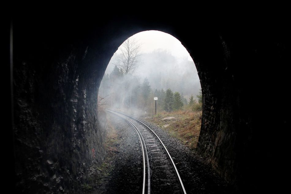 going IN the back... Arch Brocken Brockenbahn Day Harz Look Back Narrow-gauge Railway Nature No People Outdoors Pollution Of The Environment Rail Transportation Railroad Track Railway Railway Track Railway Tunnel Steam Steam Train Transportation Transportation Tree Tunnel
