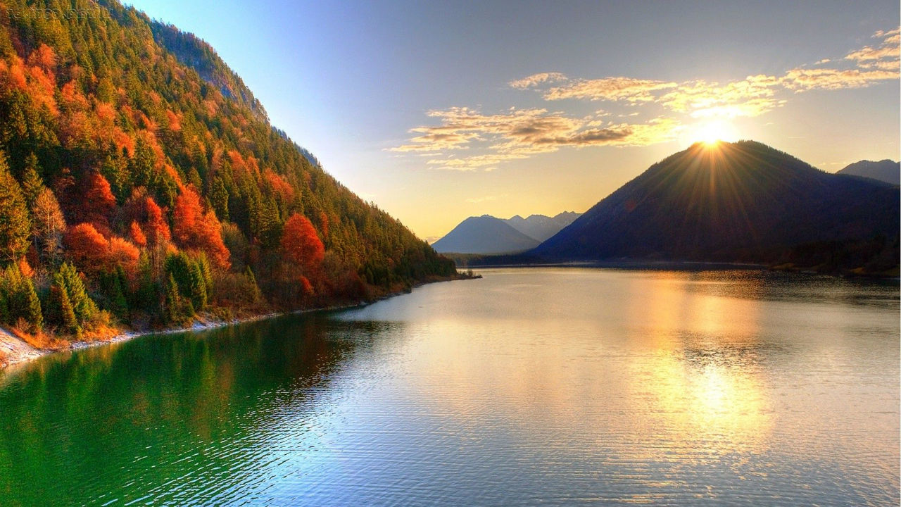 Nature in motion. Beauty In Nature Day Idyllic Lake Landscape Mountain Mountain Range Nature No People Outdoors Reflection Scenics Sky Sunlight Sunset Tranquil Scene Tranquility Tree View Water Waterfront
