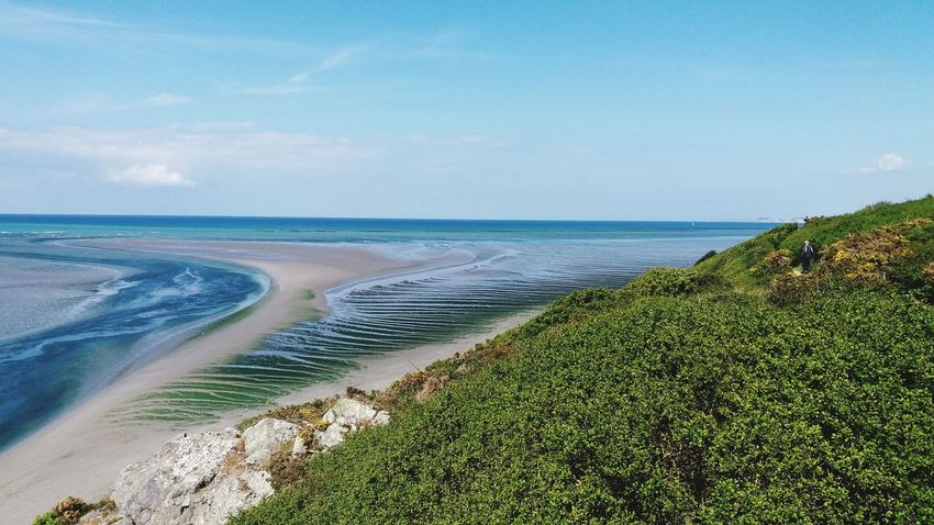 Beach Sea Sand Coastline Water Nature Landscape Tranquility Beauty In Nature Sunny Scenics Sky Horizon Over Water Tranquil Scene Outdoors Vacations Travel Destinations Day Grass Wave Saint Brieuc Bay Bretagne Paradise No People