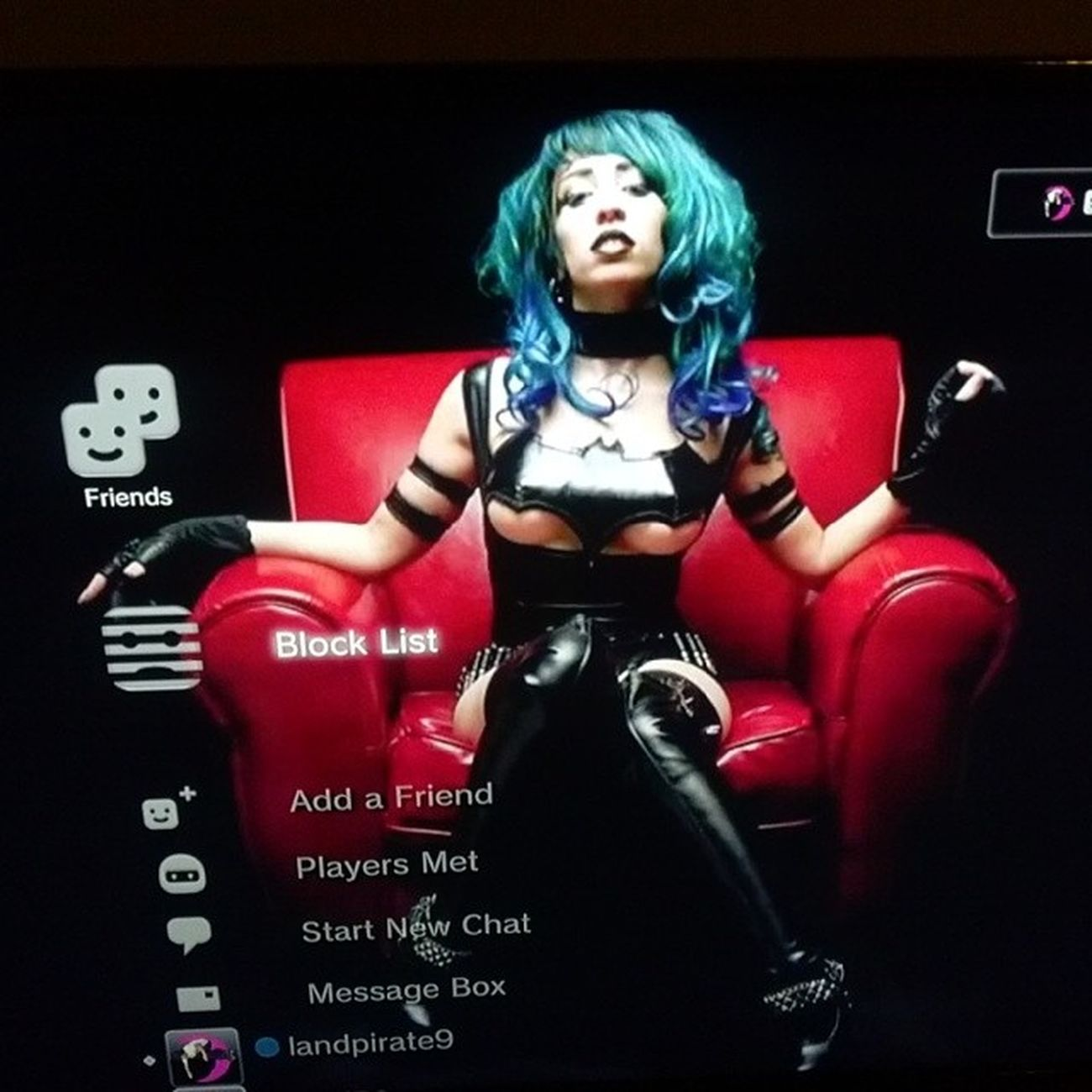 My WCW every day is @vividvivka she's my wallpaper on my Ps3 Batman Batbra
