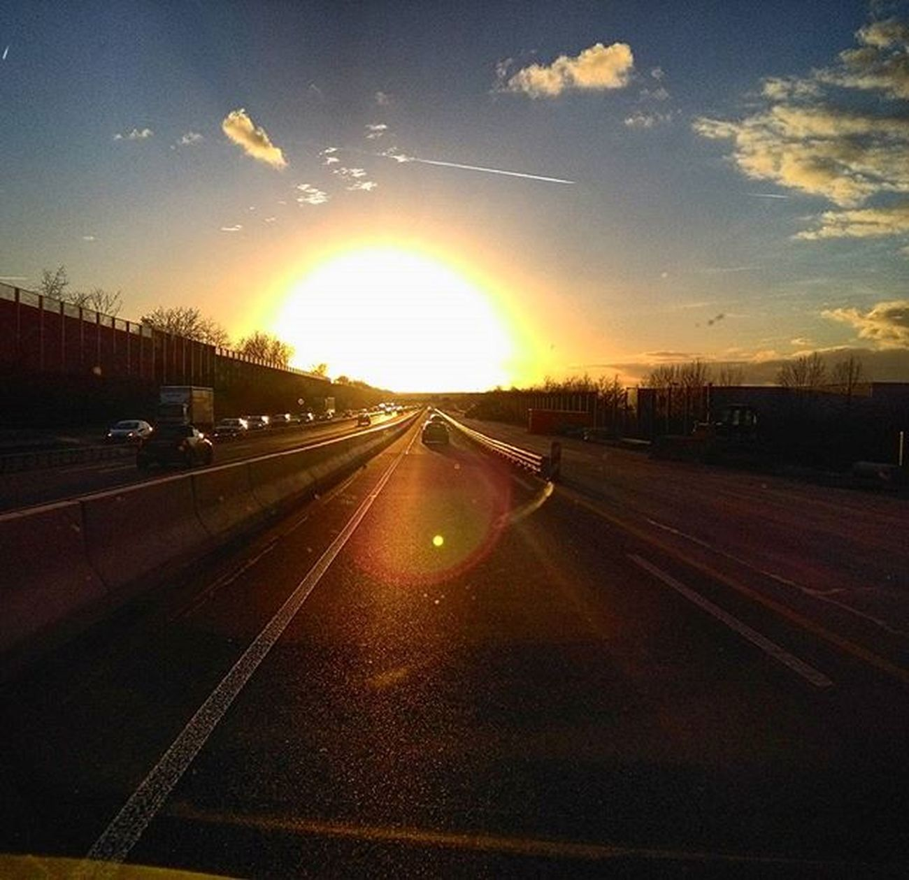 A7 Autobahn Highway Sun Sunset Skyisburning Sky Photoarena_sunset Heaven Cloud Clouds Roadtrip Road Driving Drivinghome Drive Street