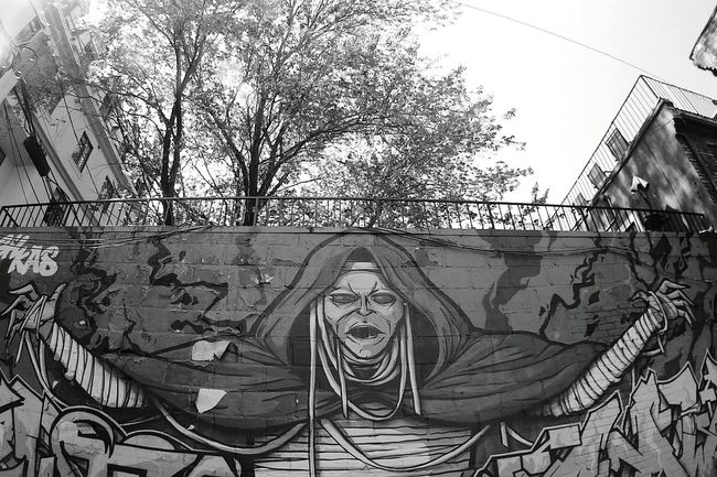 Graffiti Streetart SJ4000 Blackandwhite