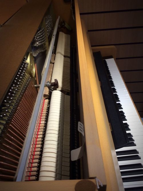 Inside Out Piano Piano Keys Hammers Mechanism Musical Instrument Straight Line Showcase March . I love this shot looking inside the piano, but also having the keys visible as well. 🎹🎹🎹🎼🎶😃