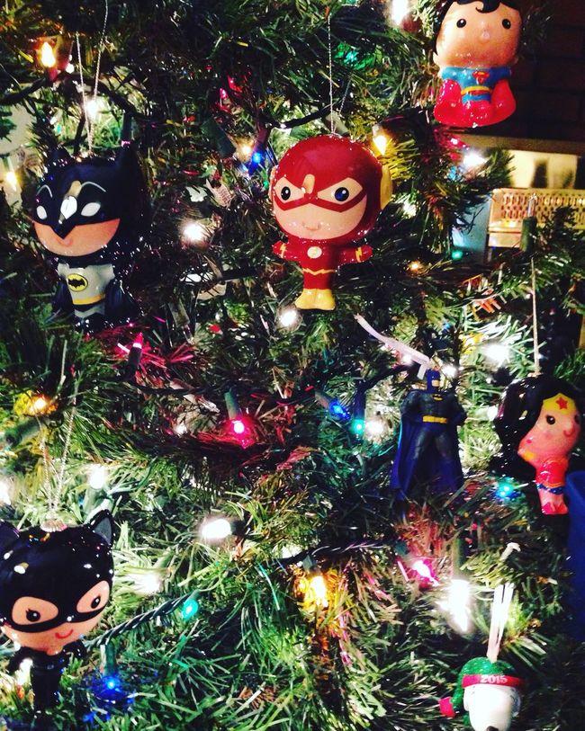 Christmas Tree Superheroes Love Jacob Decorated