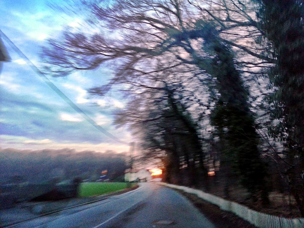 Der Wald lebt ... Tree Sky Cloud - Sky Transportation No People Nature The Way Forward Outdoors Land Vehicle Sunset Road Day Scary Wood Treescape On The Way Home Tranquility