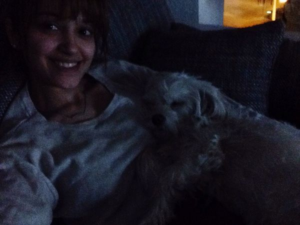 Goodnight Sleeping Time With Puppy Check This Out Happy Smile Loveher Selfie 😴❤️