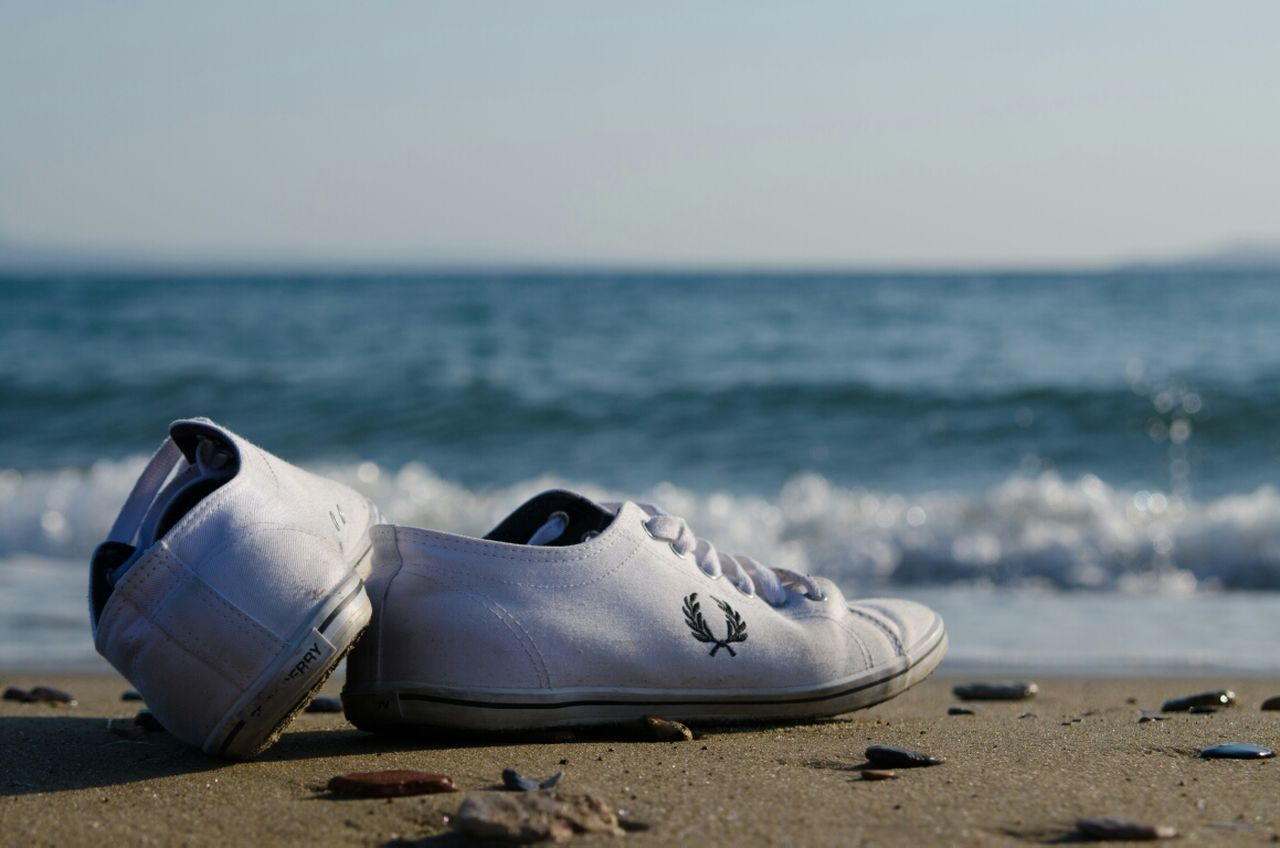 sea, horizon over water, beach, outdoors, no people, sand, water, nature, day, clear sky, close-up, sky