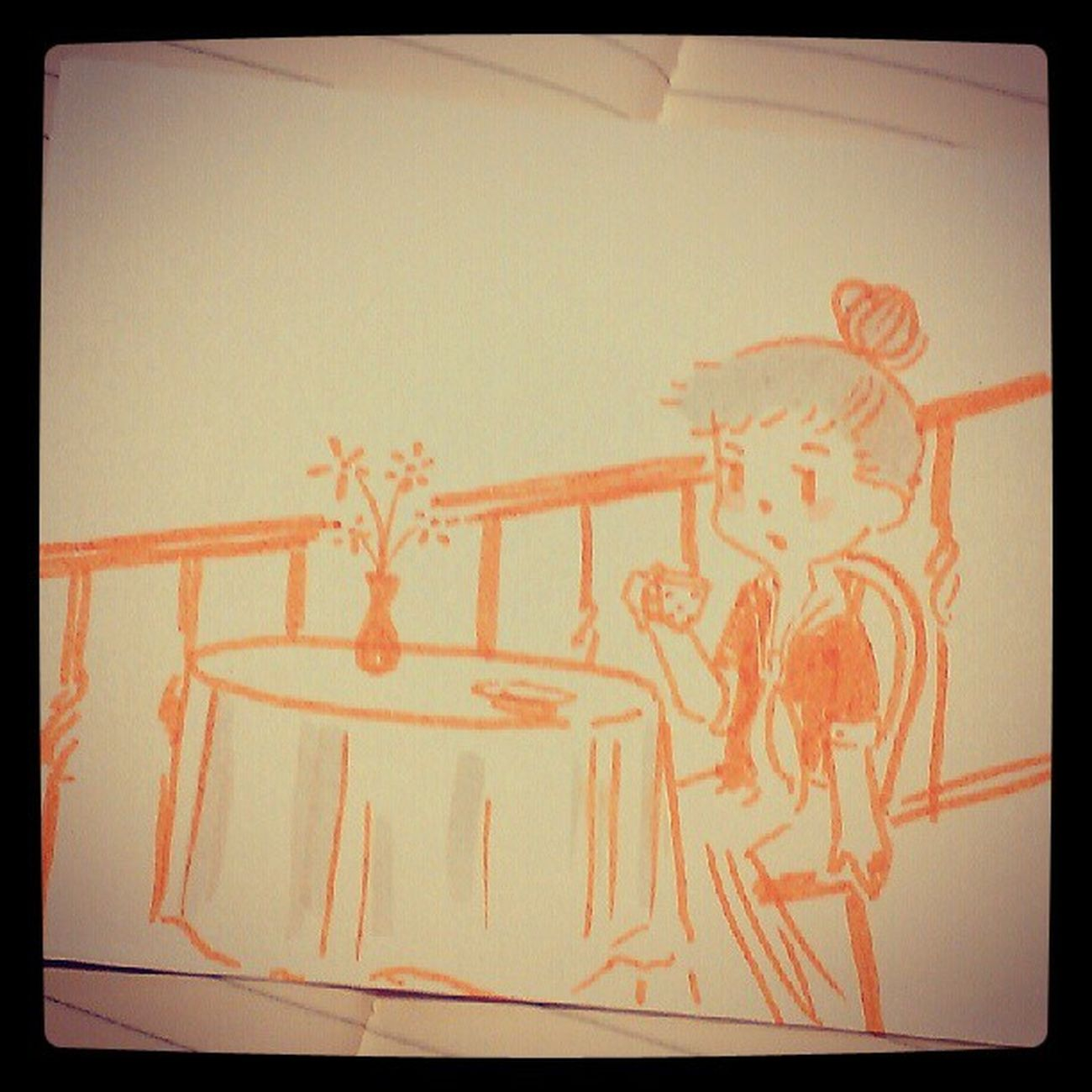 ฉันฝันว่าฉันจะได้เลี้ยงกาแฟใครสักคน...แต่ฝันนั้นยังมาไม่ถึง Hand Made Illus Illustation Art, Drawing, Creativity