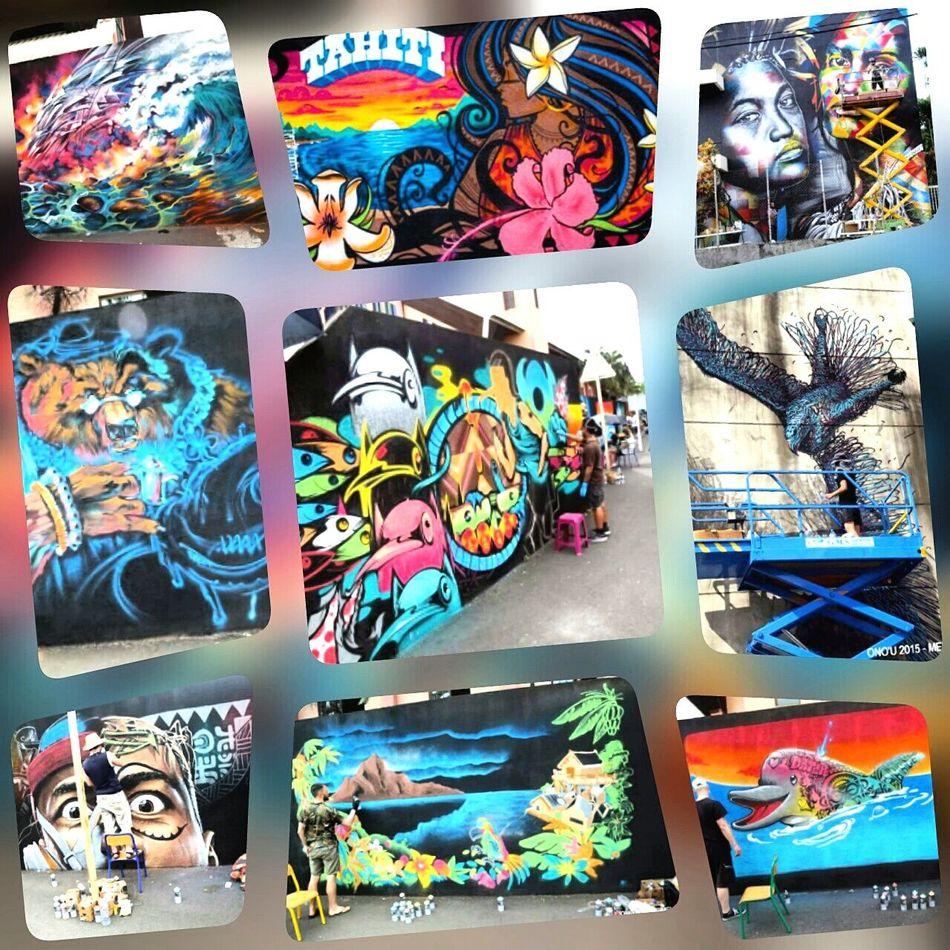 I 💖 Art 👌😘 Streetart Graffitiwall Graffiti Onou2015 Tahiti French Polynesia