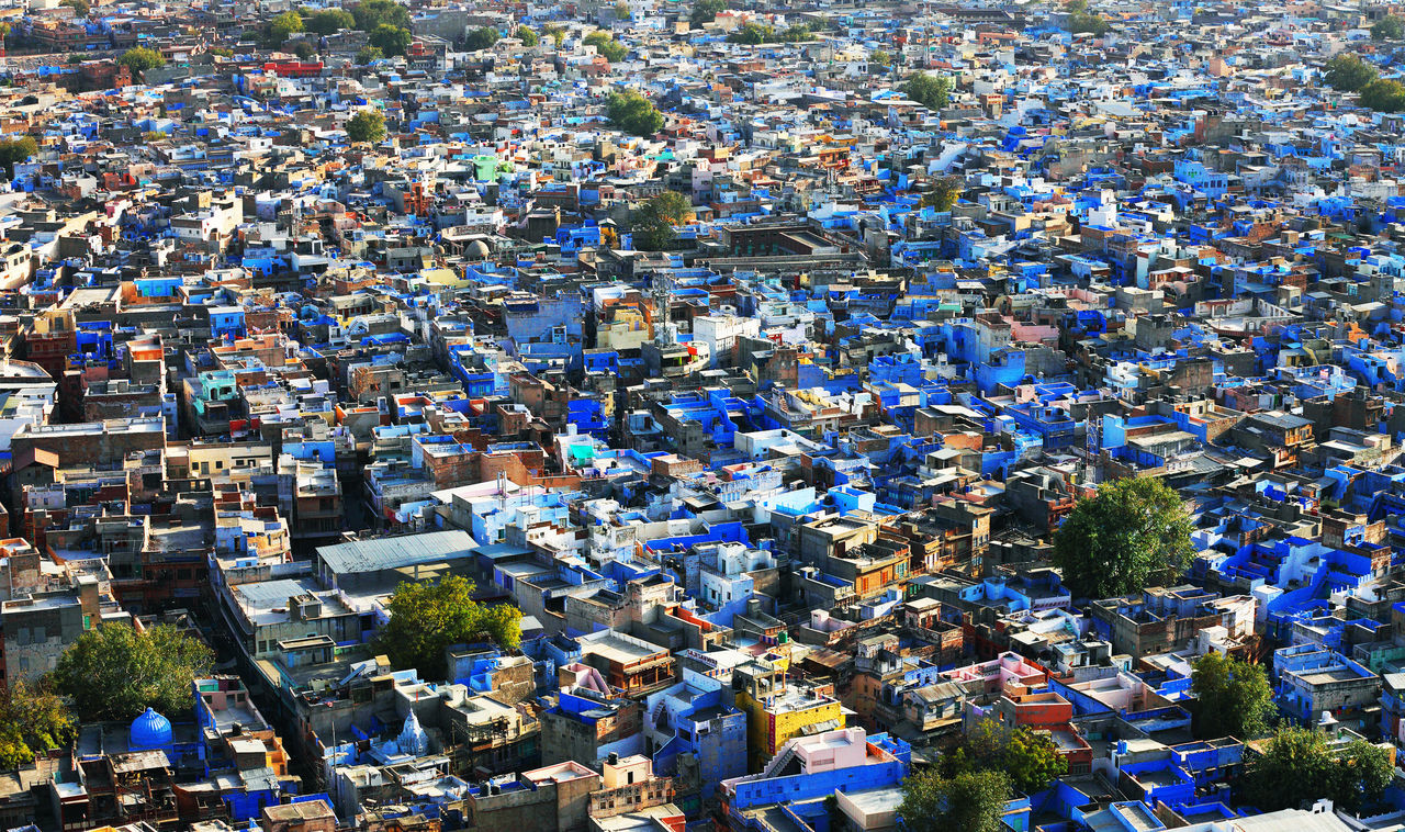 Full Frame Shot Of Blue City