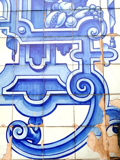 Outdoors Pattern Blue No People Building Exterior Architecture Built Structure Traveling Beautiful Places Portugal Porto Church Azulejos
