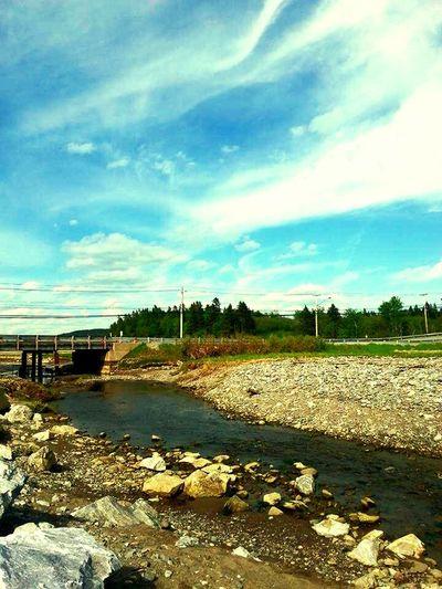 Taking Photos Summer Clouds And Sky SaintJohn Sky Water Bridge Oceanwater