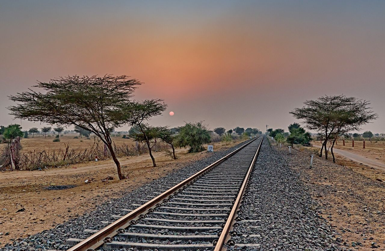 It's journey which influence... not destination Railroad Track Sky Nature Sunset Sunset_collection Golden Hour Journey Travel Travel Photography Travelphotography Beauty In Nature EyeEm Best Shots - Nature EyeEm Nature Lover EyeEm Best Edits EyeEm Gallery EyeEm Masterclass EyeEm Best Shots Nature Photography Livestock Getty Images EyeEmBestPics Incredible India Travelgram Traveling Wanderlust