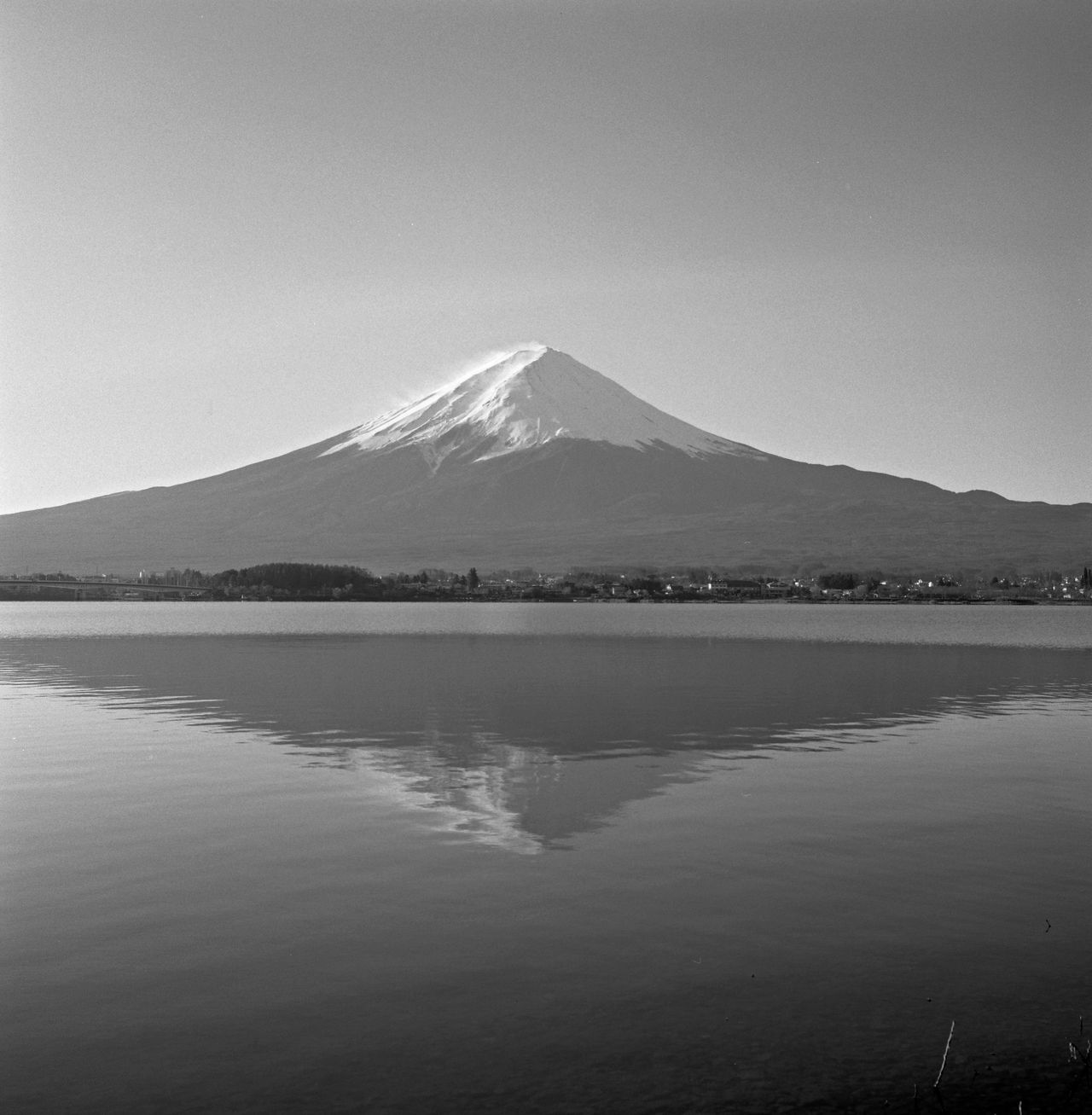 Beauty In Nature Black And White Clear Sky Film Film Photography Filmisnotdead Fujisan Japan Japan Photography Lake Lake View Lakeside Landscape Landscape_Collection Landscape_photography Mountain Mt.Fuji Nature Nature_collection Outdoors Reflection Scenics Tranquil Scene Tranquility Water Reflections