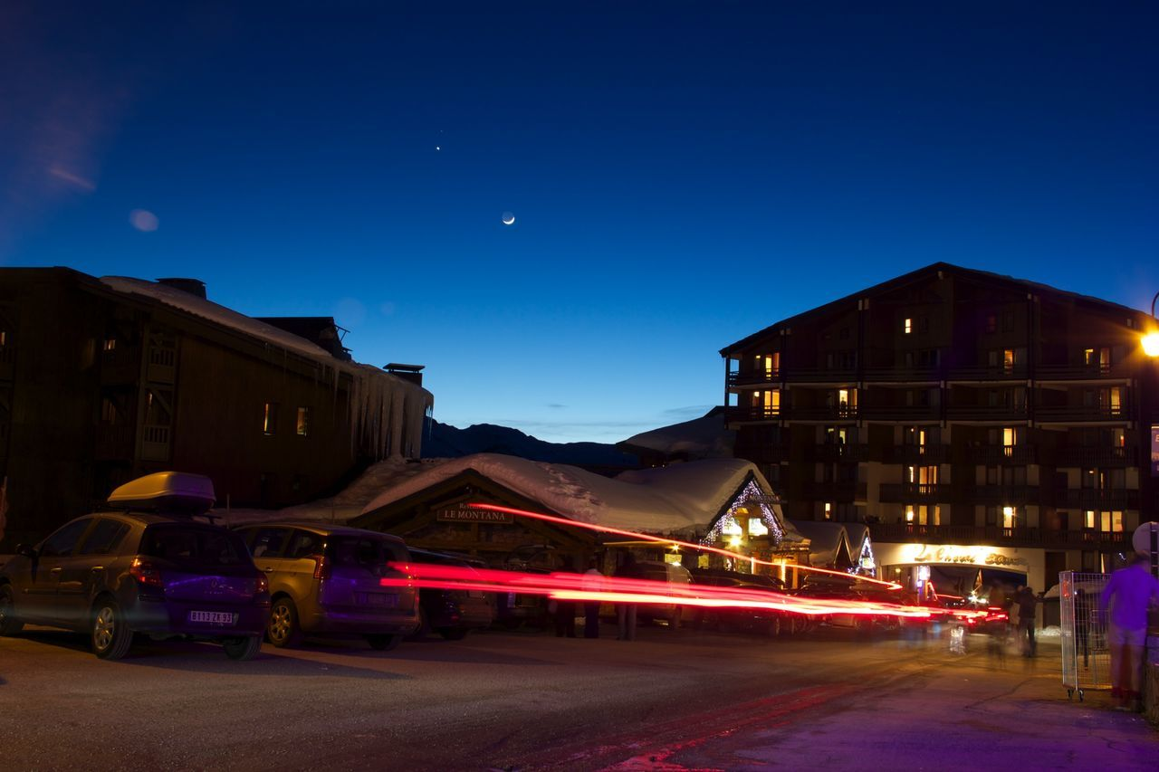Skiing Snowboarding City Snow Mountains Mountain Moon Moonlight Longexposure Car