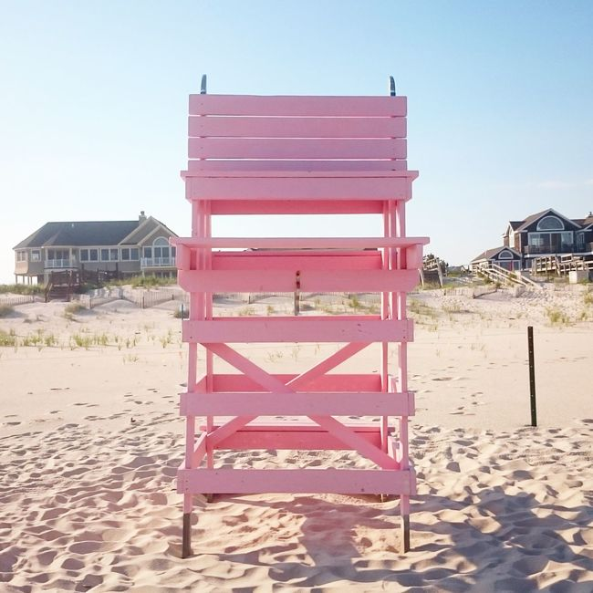 Lifeguard Chair Architecture Clear Sky Vacations Outdoors Sky No People Tourism Tranquility Scenics Non-urban Scene Coastline Peaceful Spaces Scenics Shore Tranquil Scene Tranquil Scene Tranquility Day Calm Beach Shore Seashore Hamptons Summer Vacations Beach House