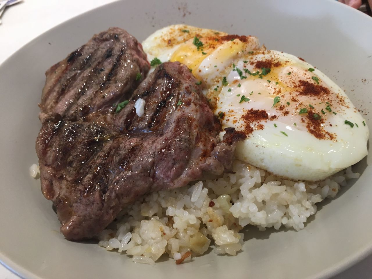 Steak and rice Food And Drink Food Steaks Steak Dinner Steak And Rice