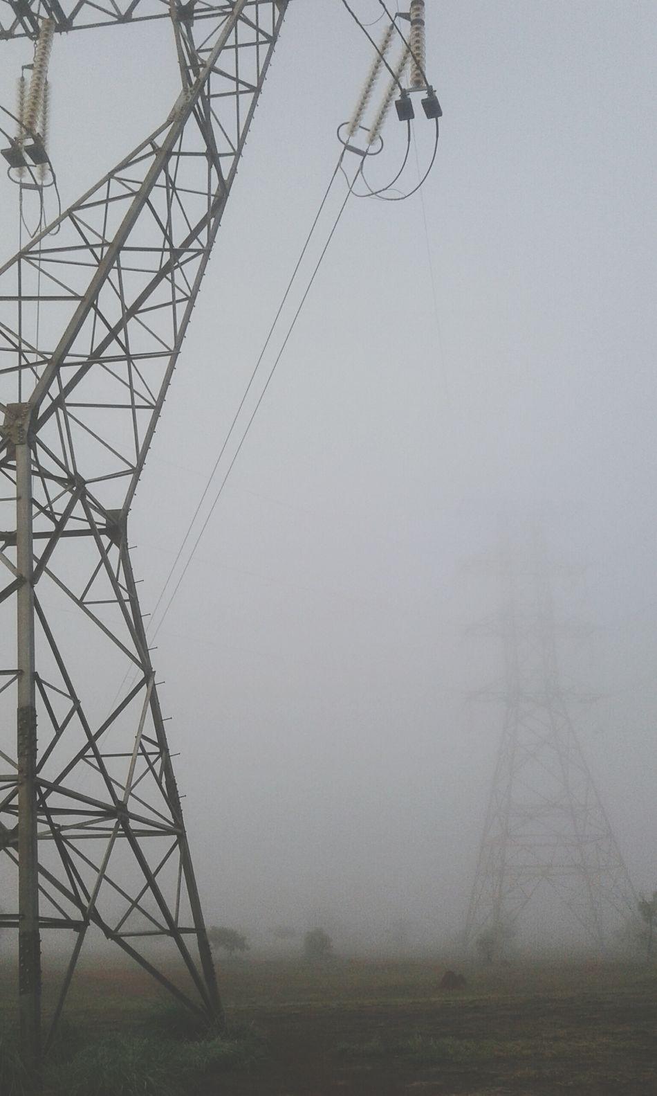 Mist Myst Neblina Névoa Torre De Energia Electricity Tower