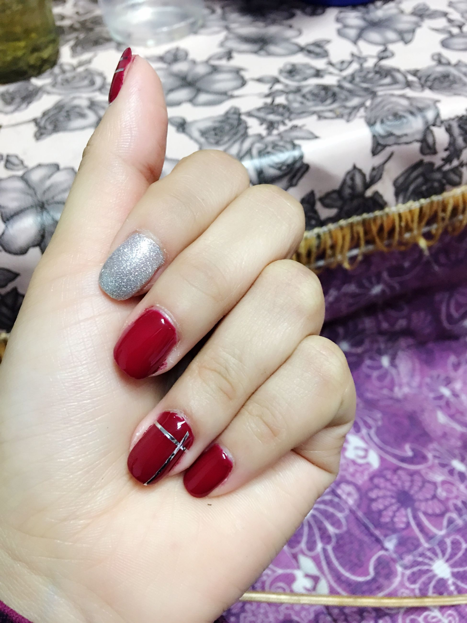 human hand, nail polish, human body part, human finger, red, fingernail, beauty, red nail polish, close-up, lifestyles, nail art, manicure, women, snow, adult, only women, winter, one woman only, one person, people, adults only, real people, cold temperature, outdoors, day