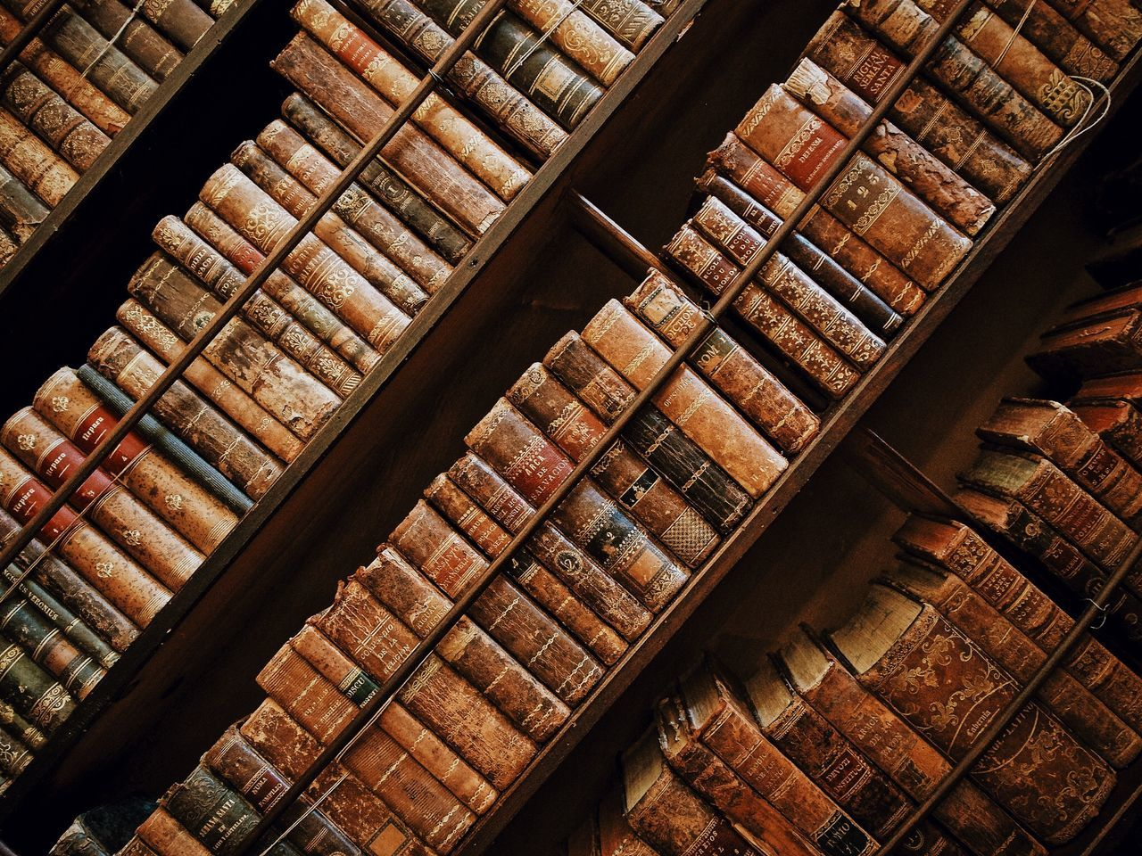 The beauty of the past... Backgrounds Book Books Bookshelf Close-up Day Development Full Frame High Angle View Iron - Metal Library Multi Colored No People Roof Beam