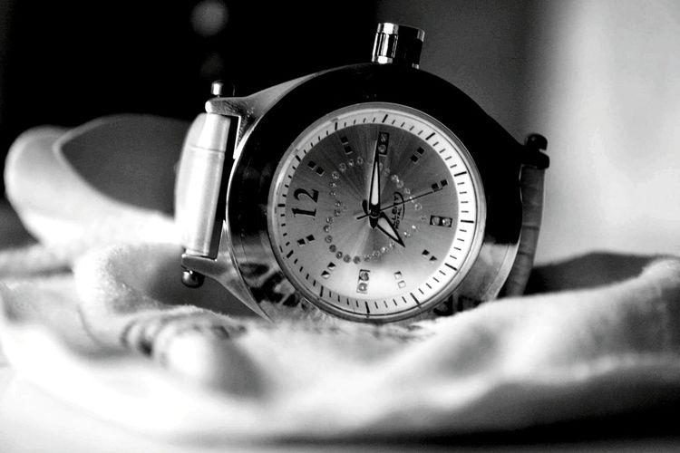 Time Close-up Clock Face Blackandwhite