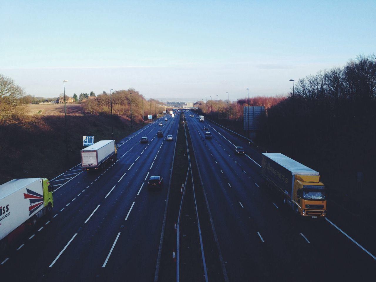 Motorway Road Traveling Vehicles