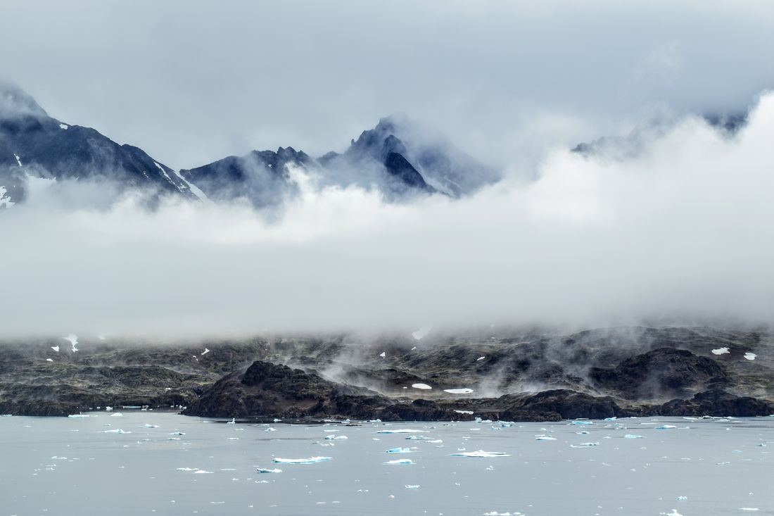 Greenland Arctic Beauty In Nature Cloud - Sky Cold Temperature Day Fog Landscape Mountain Mountain Range Nature No People Outdoors Power In Nature Scenics Sky Snow Tasiilaq Tranquil Scene Tranquility Water Weather