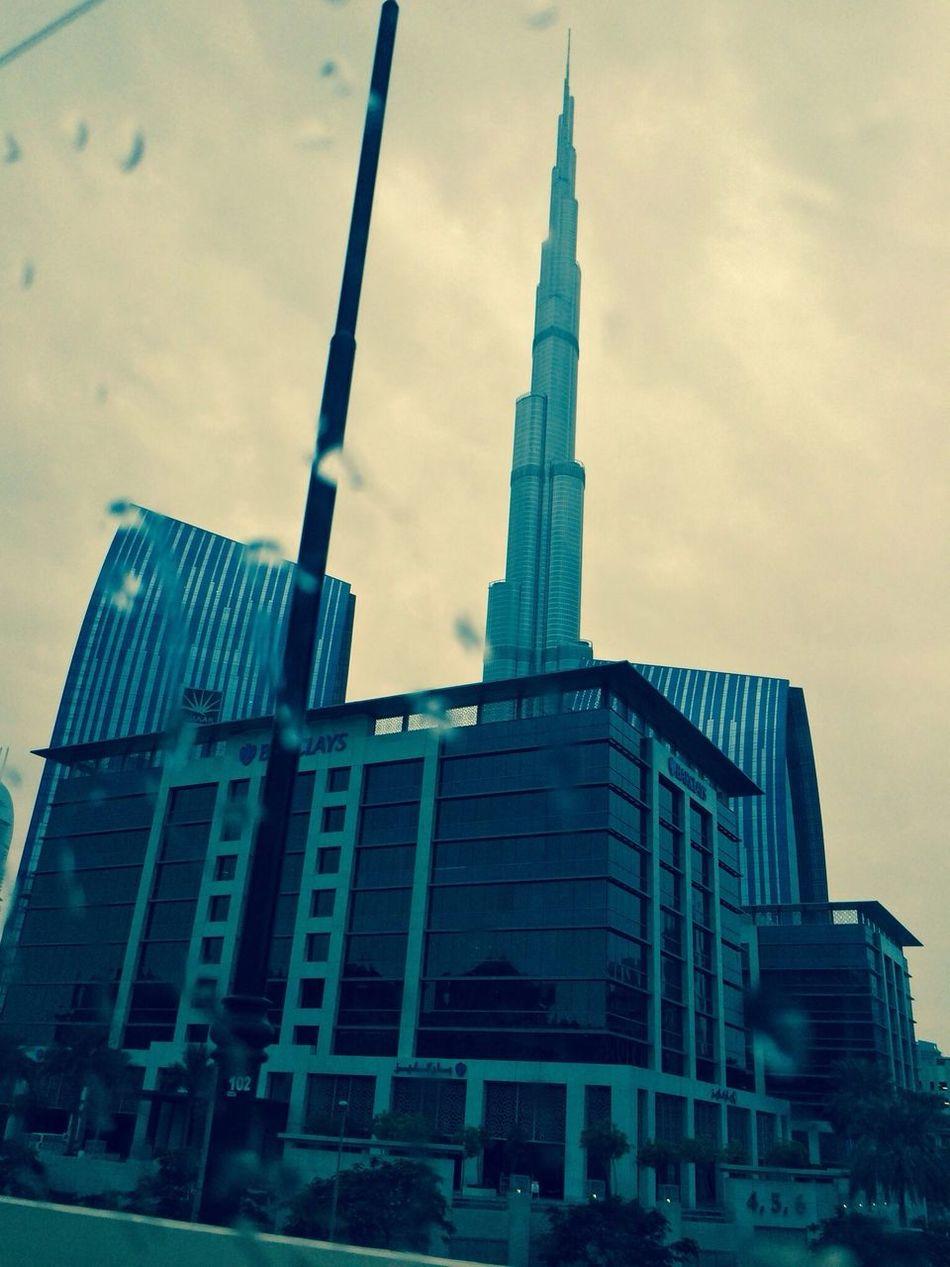 Burj Khalifa Rain Drops Burj Khakifa Nature