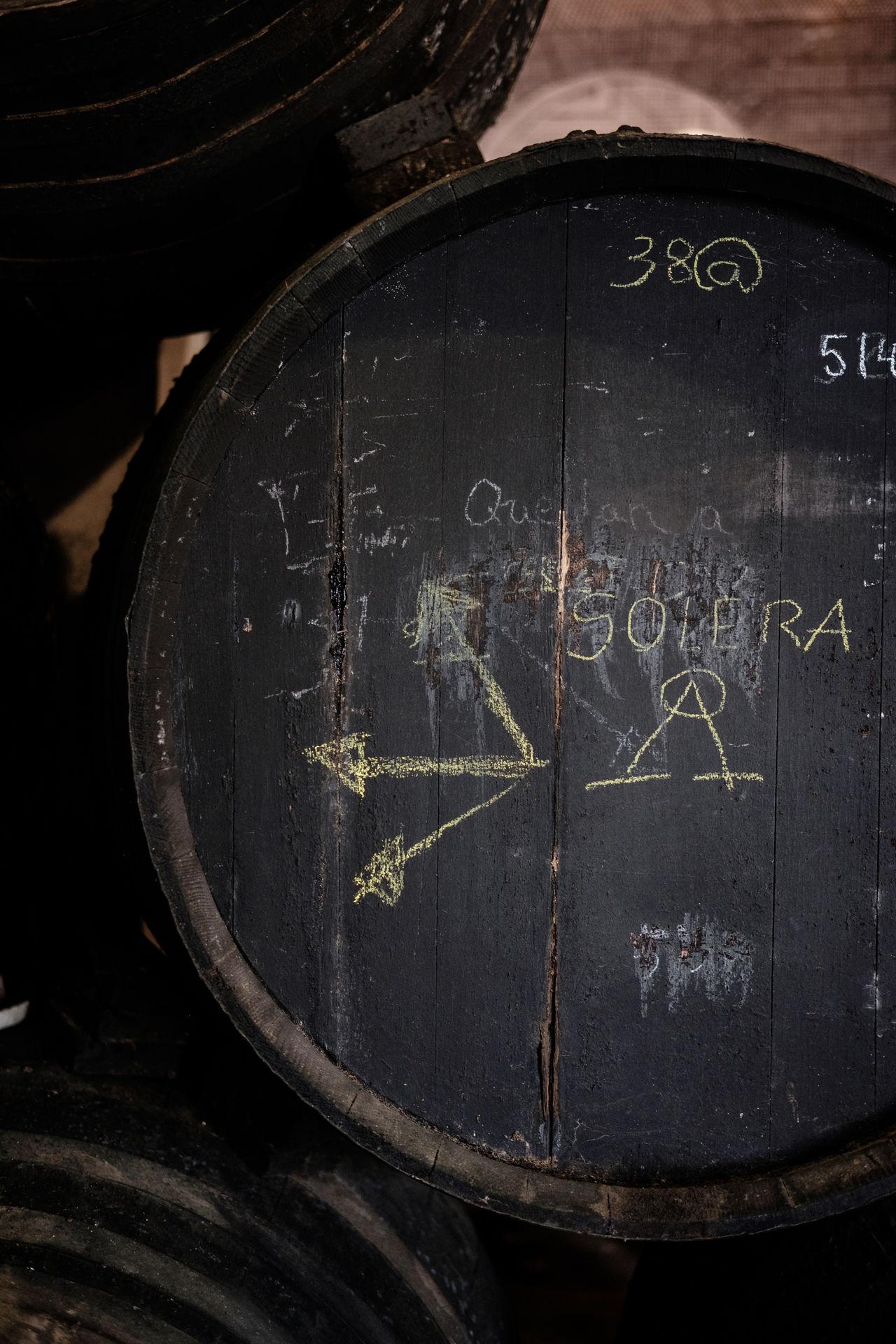Barrel Barrels Black Bodega Cask Casks Dark Drum No People Oak Patina Production Ripening Sherry Sherry Wine Solera Still Life Wine Winery Wood