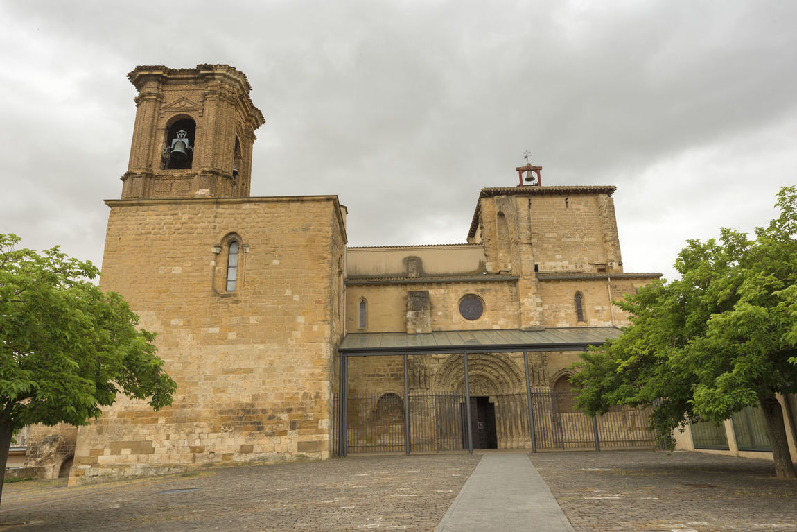 Estella Arch Architecture Bell Tower Building Exterior Built Structure Camino De Santiago Clock Tower Cloud - Sky Day History No People Outdoors Place Of Worship Religion Road To Santiago Sky Spirituality Tree