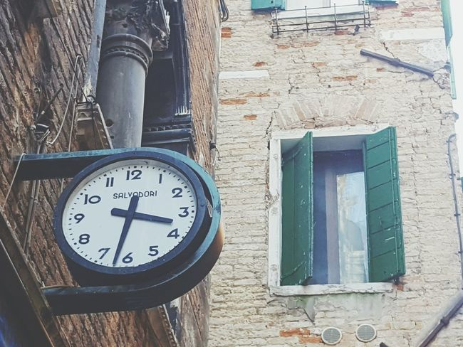 Time Clock Tower Clock On The Wall Clock Architecture Architecture_collection Streetphotography Streets Of Venice Old Buildings Old-fashioned Vintage Vintage Style Shabby Pastel Colors Softness Quiet Moments Popular Desks From Above Everybodystreet Soft Enjoying The Sights Outdoors Style