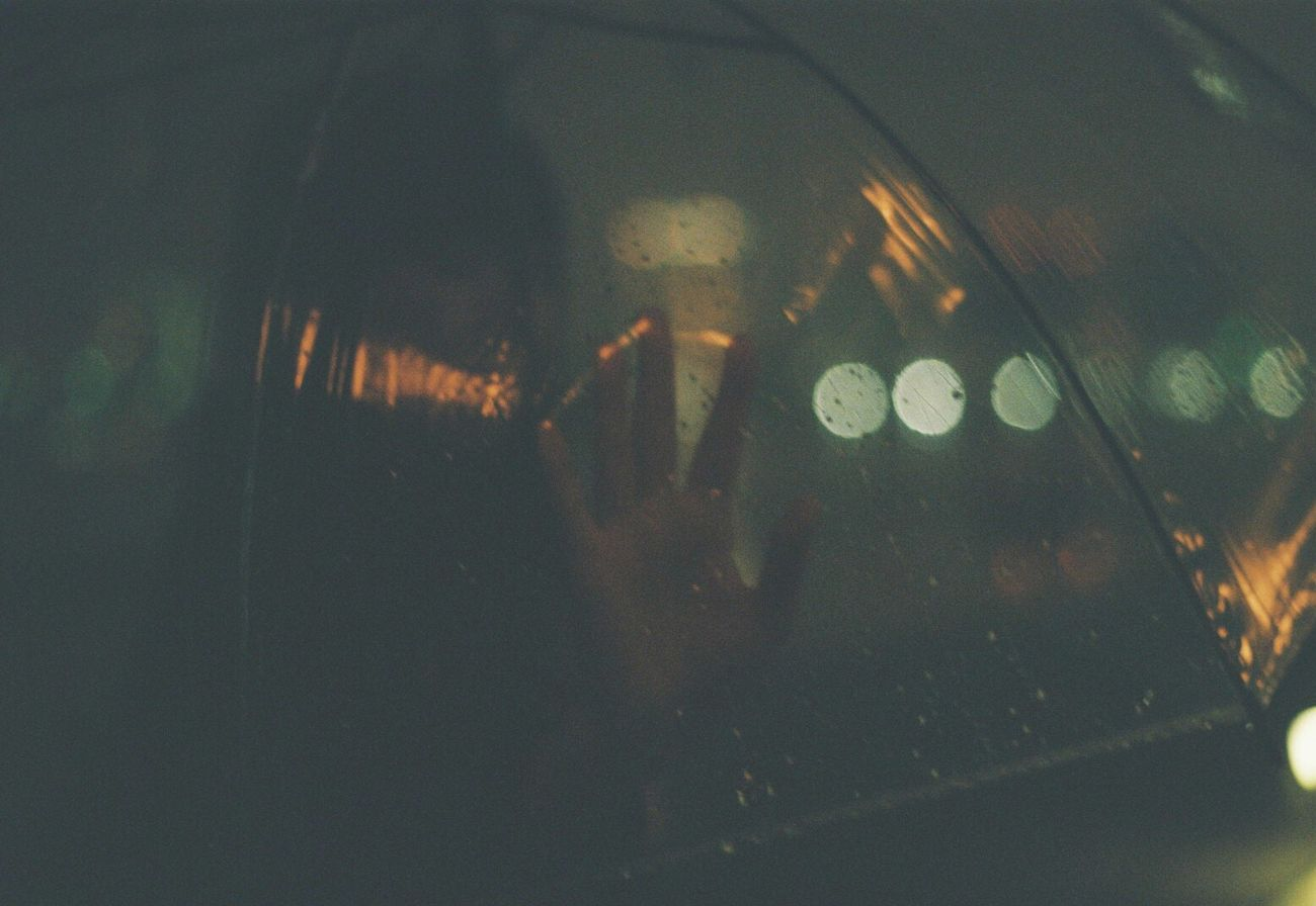 EyeEmNewHere Night Film Camera Film Photography Analogue Photography Film Analogue Cameras Analog Filmphoto Portrait Landscape Analog Photography Rain Rainy Day Unbrella Portrait Photography One Person Real People Portrait Of A Woman