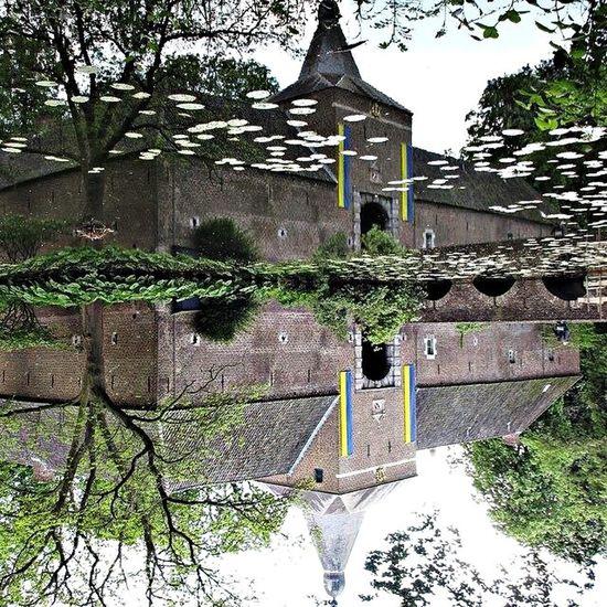 Holanda Arcen Upside Down Water Reflections