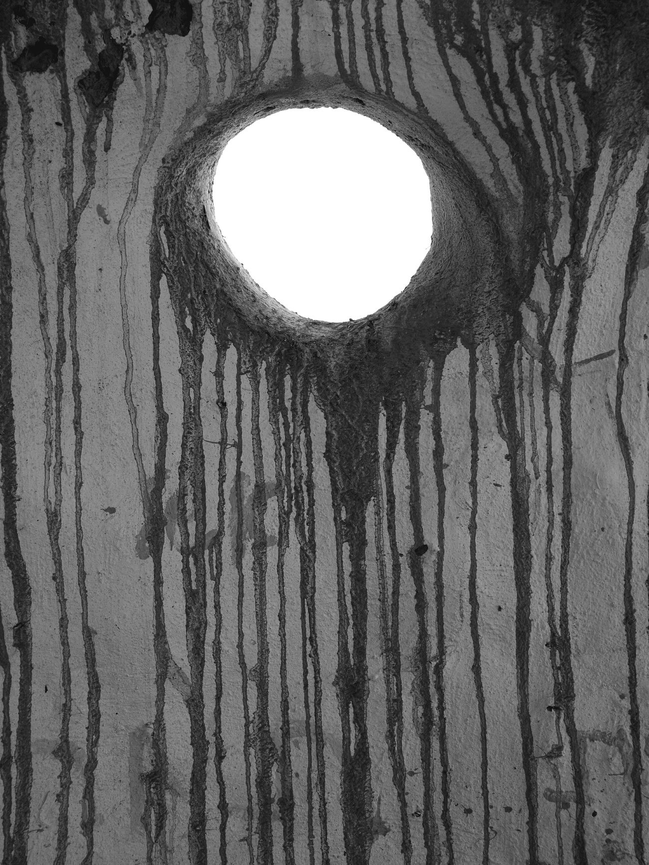 Eye. Hole Circle Geometric Shape No People Blackandwhite Leica Mobilephotography Oo HuaweiP9 White Color