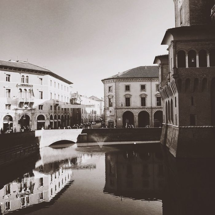 Ferrara Architecture Built Structure Building Exterior Reflection Water Waterfront History Travel Destinations Sky Day Outdoors City No People Clear Sky Castello Estense 💗