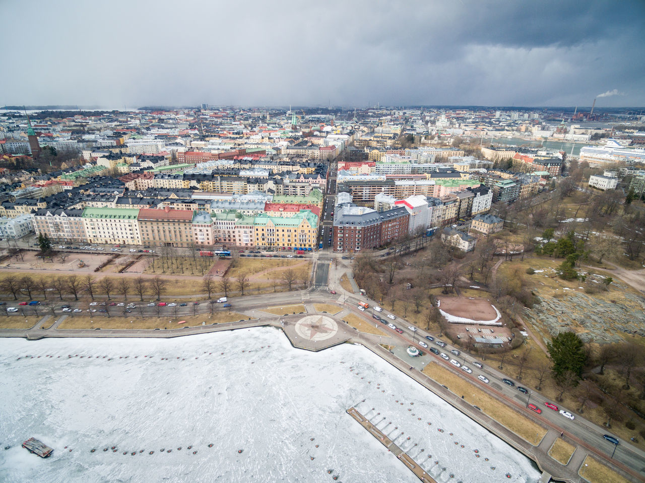 Drone shots from Helsinki on 24th of March 2017. Architecture Building Exterior Built Structure City City City Life Cityscape Day Dji Drone  Flying High Helsinki High Angle View History House Lights Living Outdoors Residential Building Sky Spring Top Perspective Top View Travel Destinations Winter