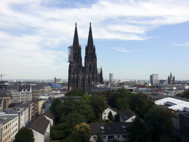 Kölner Dom Aerial View Architecture Building Exterior Built Structure Cathedral Catholic Church City Cloud - Sky Cologne Germany History Köln Kölner Dom No People Outdoors Religion Sky Travel Destinations
