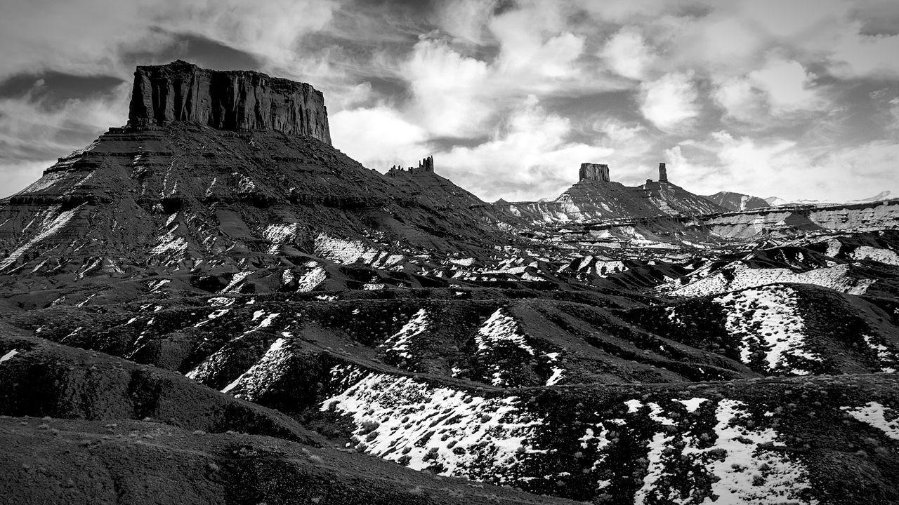 Desert scene outside of Moab, UT Deserts Around The World Desert Landscape Black And White Jtbaskinphoto Cloudy Day Moab, Utah Taking Photos Loving Life!