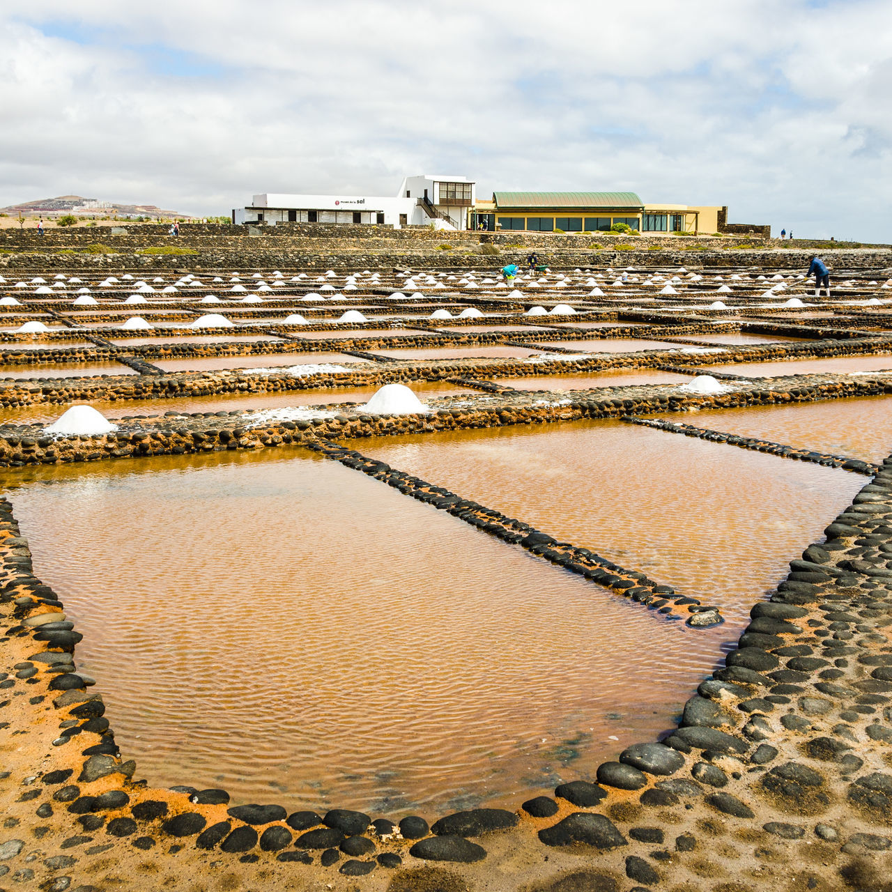 Cloudy Fuerteventura Las Salinas Museo De La Sal Puerto Del Carmen Sky