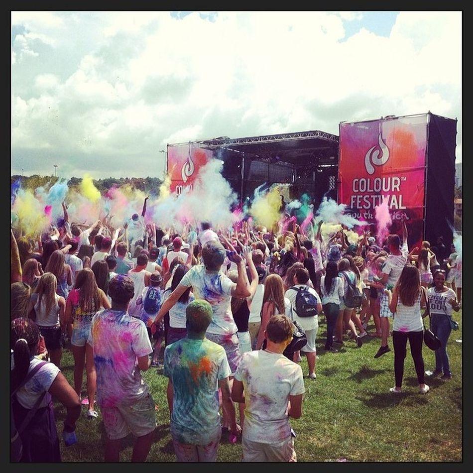 Colourfest2014 SA Awesome Colourthrow powder colours drop throw great