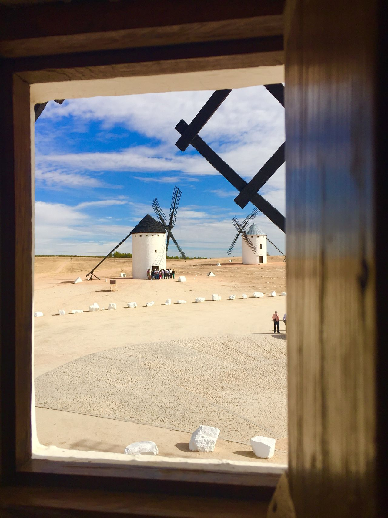 spain Windmill Wind Turbine Wind Power Alternative Energy Environmental Conservation Built Structure Sky Renewable Energy Architecture Fuel And Power Generation Rural Scene Cloud - Sky Building Exterior No People Industrial Windmill Day Nature Indoors  休暇 White Hello World Charming 風車 La Mancha ラマンチャ ドンキホーテ