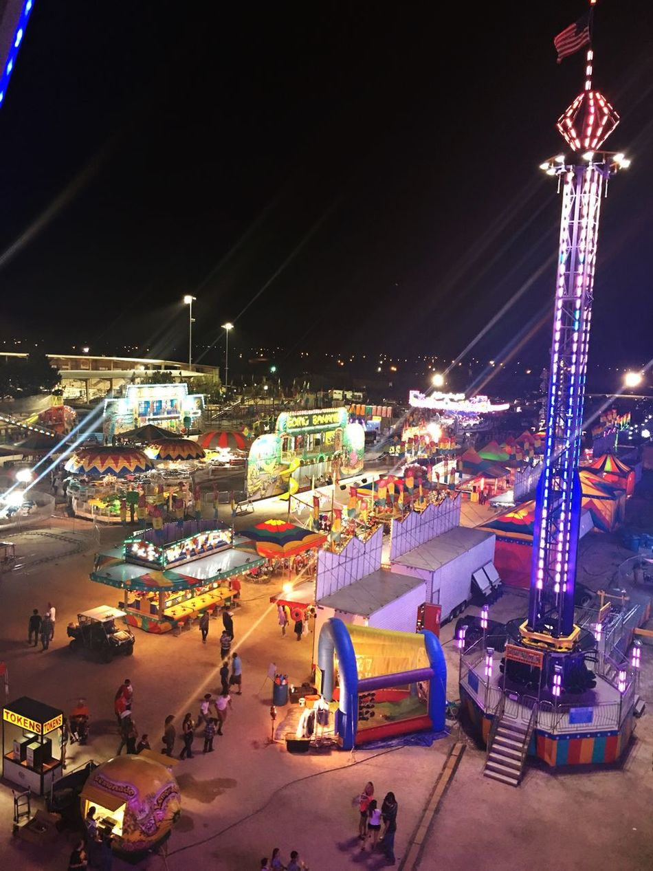 Lea County Fair and Rodeo Night Illuminated Amusement Park Nightlife Outdoors Fair Fairground Country Life Small Town New Mexico Ferris Wheel High Angle View Arts Culture And Entertainment City Rodeo Country Living Countrylife Love Summer Summertime First Eyeem Photo EyeEmNewHere