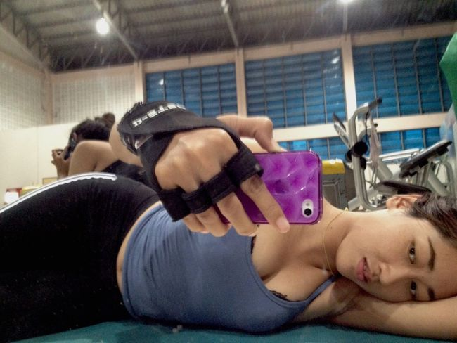 Hi That's Me Selfie Self Portrait Sexy Girl My Sexy Body Fitness time Have Good Time