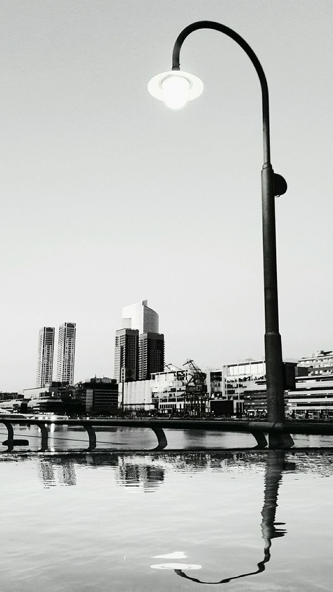 Monochrome Photography Place Street Light City Reflection Architecture Building Exterior Buenos Aires Nightphotography Whiteandblack Puertomadero Safuca Photography